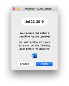 The new deadline dialog.